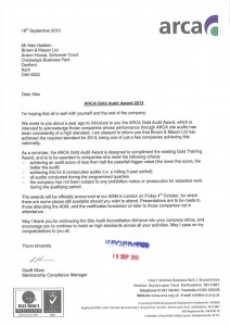 ARCA Gold Audit Award 2013 Notification 18 Sept 2013