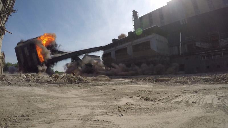 Rugeley Demolition Event Explosive Demolition 3